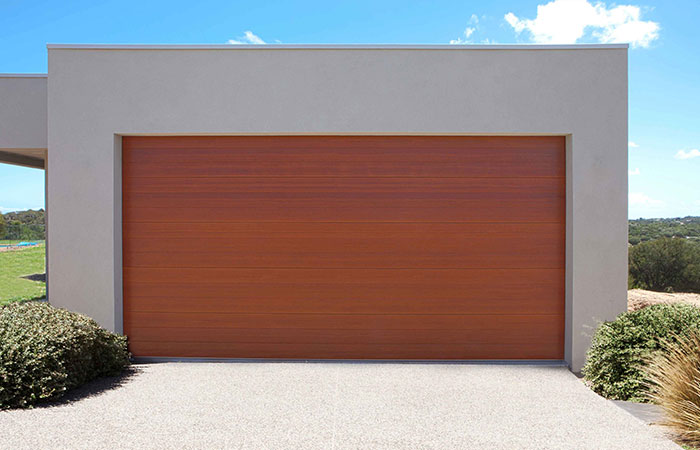 Premium timber look colours gliderol for Garage motor installation cost